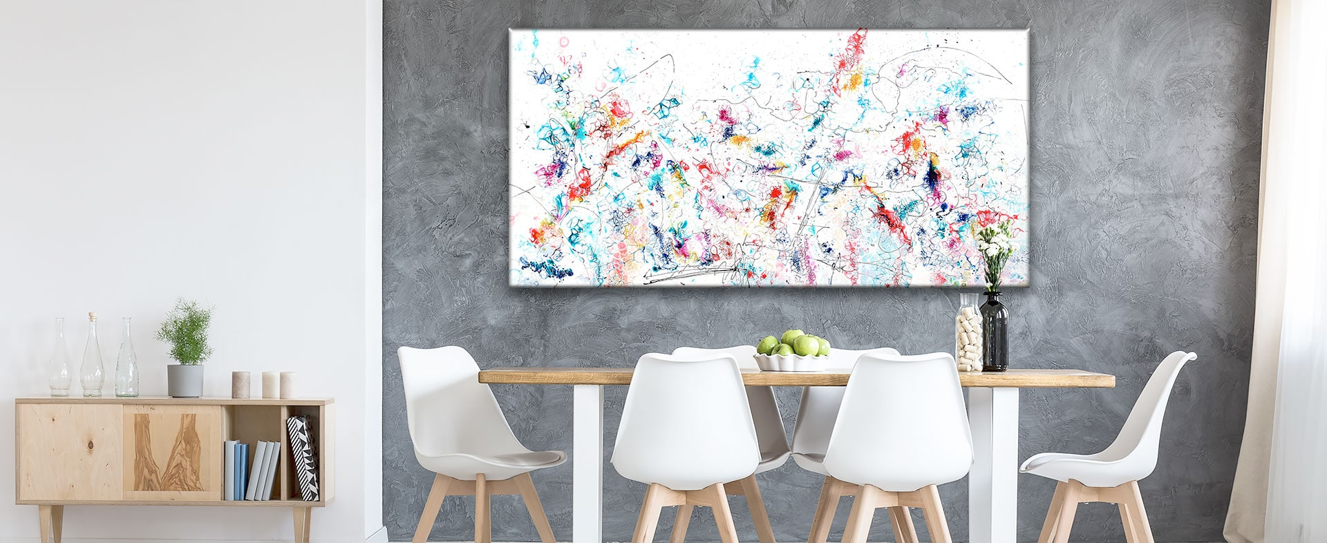 Små og store malerier til salg